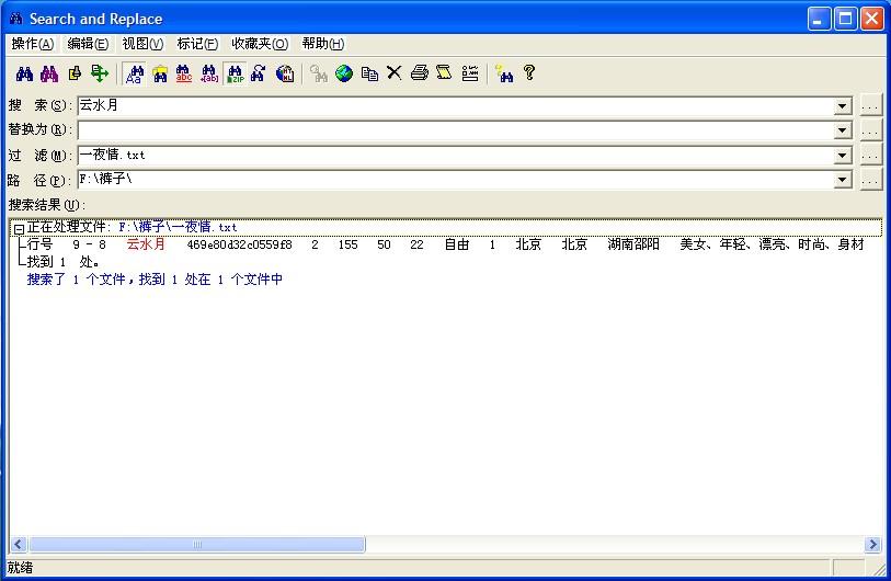 SearchandReplaceV6.5社工裤查询神器