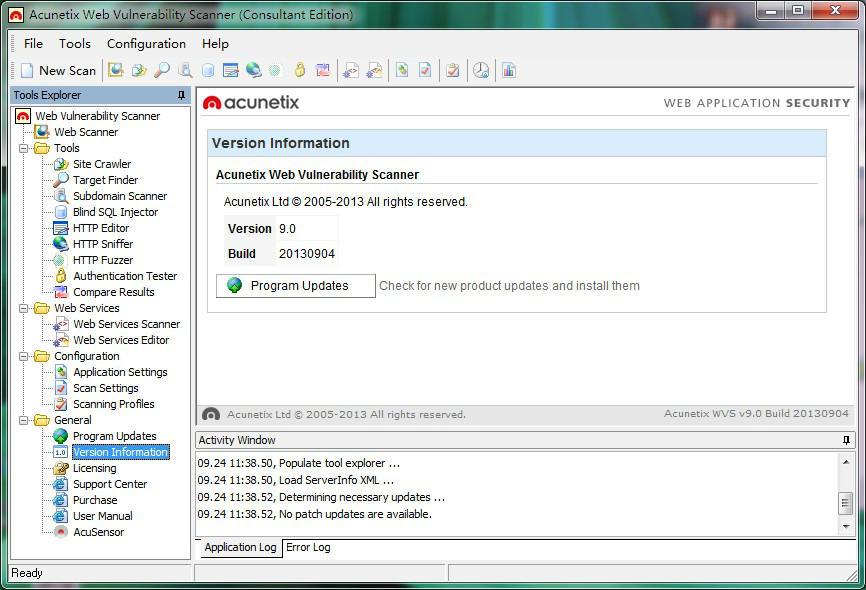 安全扫描器Acunetix Web Vulnerability Scanner 9.x 破解版
