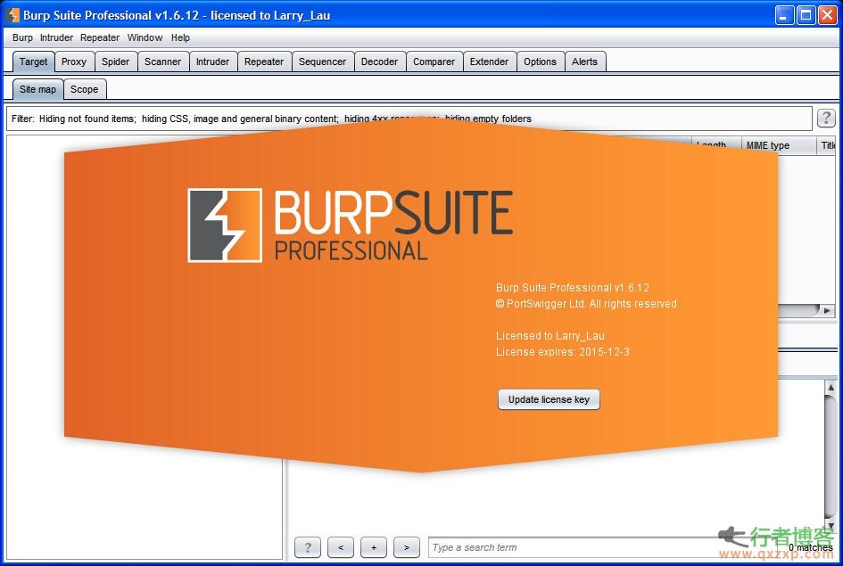 渗透测试神器Burp Suite v1.6.12最新破解版